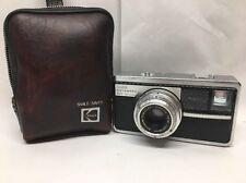 Vintage Kodak Instamatic 500 Film Camera & Leather Carry Case