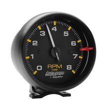 "Auto Meter 2300 Universal Black Pedestal 3-3/4"" Auto Gage Tachometer 0-8,000 RPM"