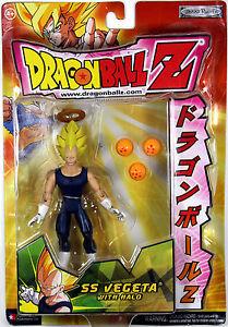 Dragonball Z ~ SS VEGETA w/HALO ACTION FIGURE ~ JAKKS DBZ