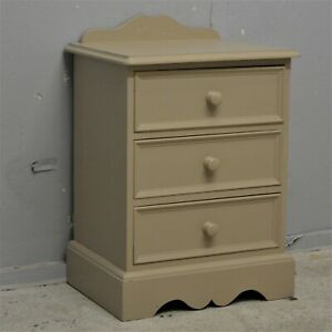 Painted Solid Quality Pine Chest of Drawers Bedside Table Delivery available