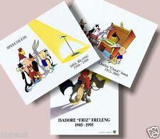 (3) Speechless Mel Blanc Jones Friz Freleng tribute Warner Bros 8x10 Brand NEW