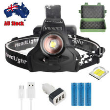 High Power XHP50 LED Headlamp Rechargeable Headlight Zoom Head Light 3Mode Torch