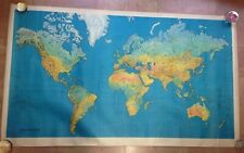 WORLD MAP PERCEVAL Creations XXe CENTURY WALL MAP