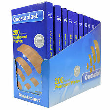 200 Assorted Washproof Plasters, Breathable,Flexible &Comfortable Protects Wound