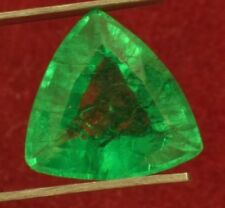 14.8x14.5mm (8.65cts) TRILLIANT-FACET CERTIFIED NATURAL (GGL) COLOMBIAN EMERALD