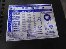 Q-TRAN QTM-180DC 120/12-2X10A+CK-S QTM-DC LED POWER SUPPLY & HOUSING, 12V 180W
