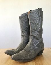Nacona Men's Gray Snakeskin Authentic Texas Cowboy Western Boots 9 D