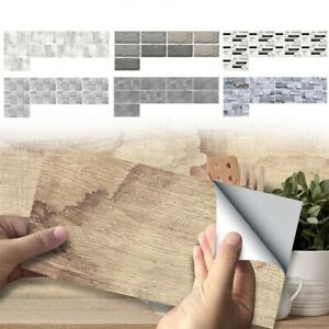 DIY Mosaic 3D Self Adhesive Wall Tile Sticker Vinyl Bathroom Kitchen Home AU NEW