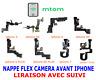 NAPPE FLEX CAMERA AVANT CAPTEUR PROXIMITÉ MICRO iPHONE 5 5S 6/6+ 6S/6S+ 7/7+