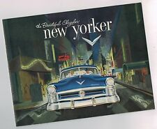 1952 Chrysler New Yorker Brochure / Pamphlet: Newport,Convertible.Nos!