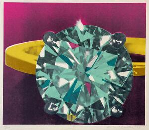 Richard Bernstein 'Diamond Ring' 1977 Pop Art Silkscreen Signed Limited Edition