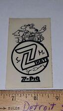 VTG 70's Z-FLEX JIM DAVEY Z-PIG Z-WOODY DOGTOWN Z BOYS NOS SKATEBOARD STICKER !!