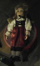 Porcelain Doll in Red dress Dirndl Believed Franklin Mint