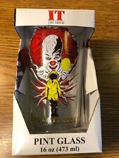 IT Pennywise VERY RARE Collectible Pint Glass Tumbler NEW Stephen King Horror