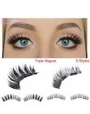 False Magnetic Eyelashes Premium Set Triple Magnets 2 PCS No Glue 3D  Lashes