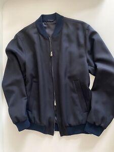 HUGO BOSS Gr 94 = M Dunkelblau Bomberjacke Baumwolle mit Seitentaschen Nolwin1