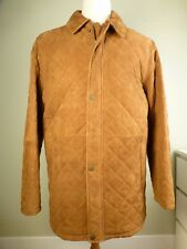 NWT! Brooks Brothers Leather Quilted Coat L Brown
