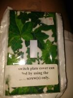 New Green Ivy Switch Cover Wall plate white kitchen bedroom single switchplate