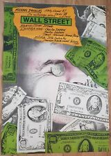 "WALL STREET, Original Polish poster, movie poster, Oliver Stone,26x38"", dollars"