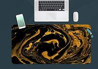3D Wirbelgold 3 Textur Rutschfest Büro Schreibtisch Mauspad Tastatur Spiel