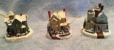 Thomas Kinkade Winter Memories Ornaments First Issue Never Displayed Illuminated