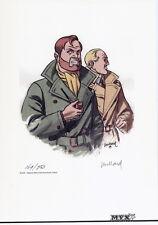 Ex-Libris ANDRE JUILLARD signed Artprint/Druck  BLAKE UND MORTIMER lim.250 Ex.