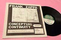 Frank Zappa LP Conceptual Contiunuity Live Detroit 1976 NM Toooppp