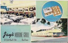 Jays Marine Grill 3718 Hall St Oak Lawn DALLAS TX Waitress Will Mail Postcard