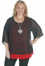 Chiffon 3/4 Sleeve Plus Size Tops & Blouses for Women