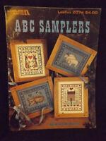 ABC Samplers Leisure Arts Cross Stitch Leaflet #2074