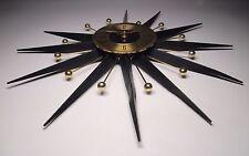 Welby Starburst Mid Century Wall Clock  Atomic Sputnik AS IS