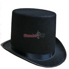 Boys Black Satin Top Hat Magician Wedding Tuxedo Kids Ring Master 20s Costume