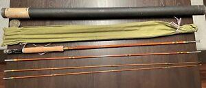 Vintage Montague Split Bamboo Rapidan 9' Fly Rod - Excellent Condition