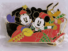 Disney Christmas 2004 Lanyard Pin Set Mickey Minnie Pluto Cast Exclusive Le
