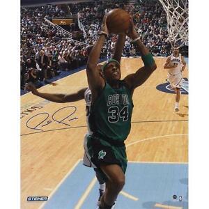 Paul Pierce Boston Celtics Autographed 16X20 Photo Vs. Utah Jazz – Steiner COA