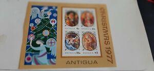 Antigua 1977Christmas Stamps Miniature Sheet