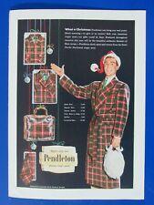 "Christmas 1956 Pendleton Shirt Original Print Ad 8.5 x 11"""