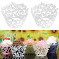 12x Kuchen Cake Wrapper Cupcake Muffin Wrappers Verpackung Hochzeit Party