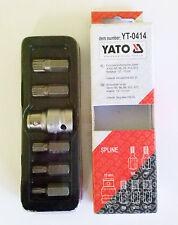 Yato yt-0414 Ranura Destornillador Set de brocas 6 Piezas