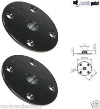 2 Stück Flansch / Boxenflansch für Lautsprecherstative mit  M20 Gewinde Flansch