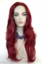Long Red Straight Skin Top Fun Color Jean Costume Wigs