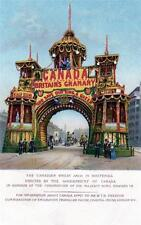 Canada Canadian Wheat Arch Whitehall Coronation 1902 unused Tuck Embossed pc