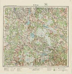 1929 Vintage army topographic map STRAUPE (Latvia),1:75 000