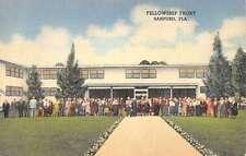 Sanford Florida Fellowship Front Exterior Linen Antique Postcard K22098