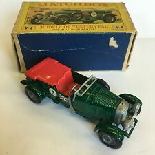 Matchbox Y-5 1929 4 1/2 (S) Bentley Green Red Seats Boxed Yesteryear