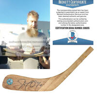 Joe Thornton San Jose SJ Sharks Signed Hockey Stick Blade Proof Beckett BAS Cert