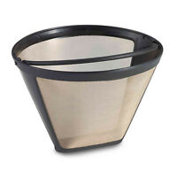 Deco Essentials GoldTone Reusable Woven Mesh Filter Basket for 10-12 Cup Coffee