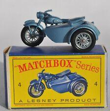 MATCHBOX Lesney n°4 Moto Side-Car Triumph T110  Jamais joué, Bte d'origine 1960'