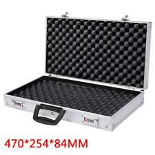Aluminium Pistol Gun Storage Lockable Flight Case Foam Tools Box Secured Storage