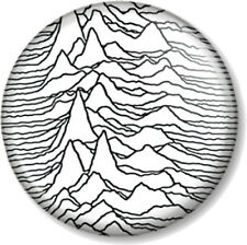 """Joy Division Unknown Pleasures 1"""" Pin Button Badge Band Ian Curtis New Wave Wht"""